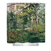 The Garden At Bellevue Shower Curtain by Edouard Manet