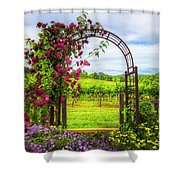 The Garden At The Winery Shower Curtain
