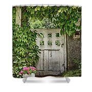 The Garden Door - V Shower Curtain