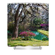 The Garden In The Abbey Shower Curtain