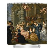 The Garden Of Love Shower Curtain