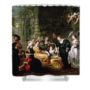 The Garden Of Love Shower Curtain by Peter Paul Rubens