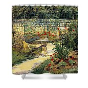 The Garden Of Manet Shower Curtain