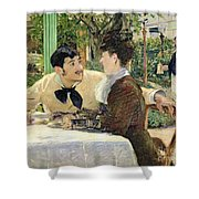 The Garden Of Pere Lathuille Shower Curtain by Edouard Manet