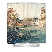 The Garden Of San Miniato Near Florence Shower Curtain