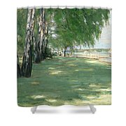 The Garden Of The Artist In Wannsee Shower Curtain