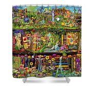 The Garden Shelf Shower Curtain