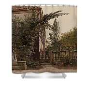 The Garden Steps Shower Curtain