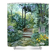 The Garden Triptych Right Side Shower Curtain