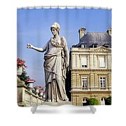 The Gardens Of Luxembourg Palace, Paris Shower Curtain