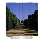 The Gardens Of The Alcazar Of Catholic Shower Curtain