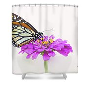 The Garden's Visitor Shower Curtain