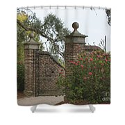 The Gate At Boone Hall Shower Curtain
