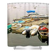 The Gathering At Southwest Harbor Shower Curtain