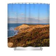 The Gay Head Cliffs In Autumn Shower Curtain
