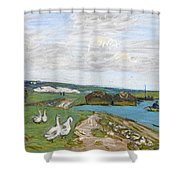 The Geese Shower Curtain