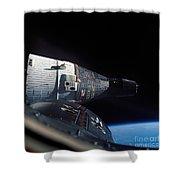The Gemini 7 Spacecraft In Earth Orbit Shower Curtain