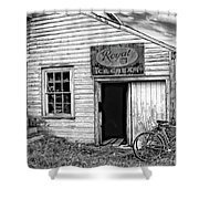 The General Store Bw Shower Curtain
