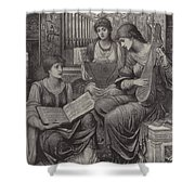 The Gentle Music Of The Bygone Day Shower Curtain
