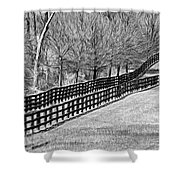 The Geometry Of Spring - Paint Bw Shower Curtain