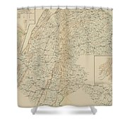The Gettysburg Campaign - American Civil War Shower Curtain