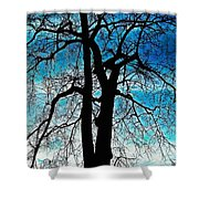 The Ghostly Tree Shower Curtain