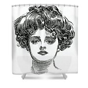 The Gibson Girl Shower Curtain