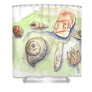 The Gifts Of The Mountain River Shower Curtain