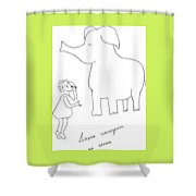 The Girl And Elefant. Shower Curtain