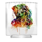 The Girl Is A Dj Shower Curtain