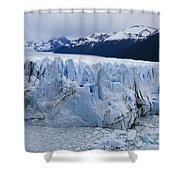 The Glacier Advances Shower Curtain