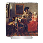 The Glass Of Wine Shower Curtain