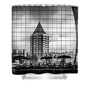 The Glass Windows Of The Market Hall In Rotterdam Shower Curtain