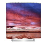 The Gloaming Of Lac Vieux Desert Shower Curtain