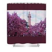 The Glory Of Spring In Mount Vernon Place, Baltimore Shower Curtain