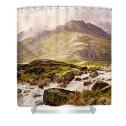 The Glyder Fawr  Shower Curtain