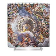 The Gods Of Olympus Shower Curtain by Giulio Romano