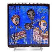 The Gogolab Painted Live  Shower Curtain