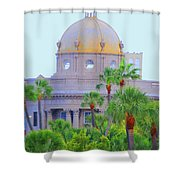 The Gold Dome Shower Curtain