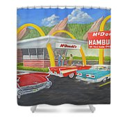 The Golden Age Of The Golden Arches Shower Curtain