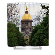 The Golden Dome Shower Curtain