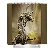 The Golden Dragon Shower Curtain