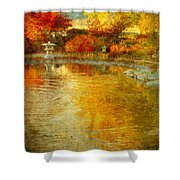The Golden Dreams Of Autumn Shower Curtain