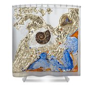 The Golden Flow Of Expansion Shower Curtain