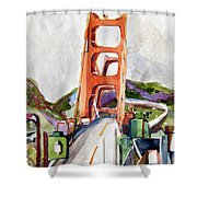The Golden Gate Bridge San Francisco Shower Curtain
