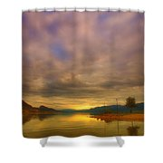 The Golden Glow Of Morning Shower Curtain