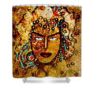 The Golden Goddess Shower Curtain
