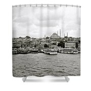 The Golden Horn Shower Curtain