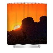 The Golden Light Of The Sonoran Desert  Shower Curtain