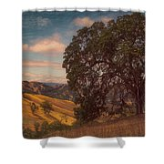 The Golden State Shower Curtain